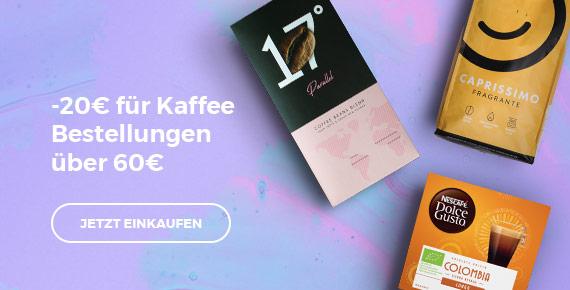 Bekommen Sie -20€ Rabatt auf Kaffee