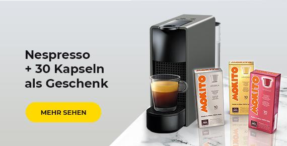 Nespresso + 30 Kapseln als Geschenk
