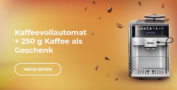 Kaffeevollautomat + 250 g Kaffee als Geschenk