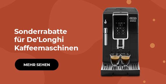 Sonderrabatte für De'Longhi Kaffeemaschinen